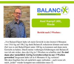 Erfahrungsberichte Abnehmen mit BalancEXpert
